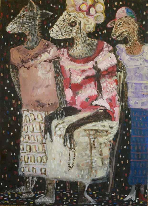 Exposition de Fodé Sidibé, inspiration des contes d'Amadou Koumba 1