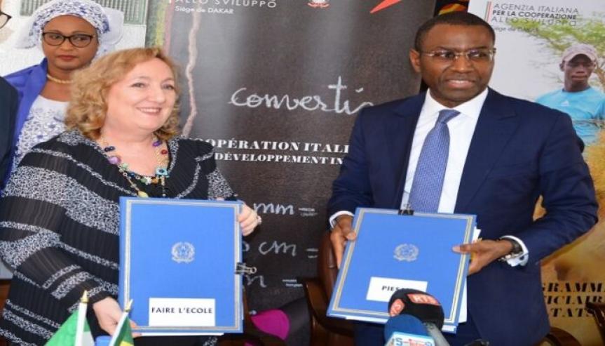 Coopération au développement: accords de financement entre l'italie et le sénégal 1