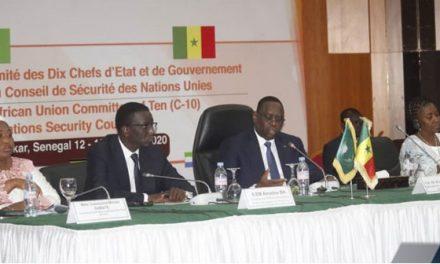 « On ne peut pas régler des problèmes africains sans les Africains» le discours DE Macky LORS DE LA 8e réunion ministérielle du comité de l'Union africaine