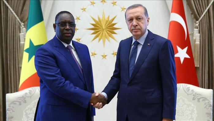 le président turc Recep Tayyip Erdogan en visite à Dakar