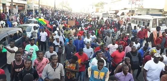 Grande mobilisation du Collectif Noo Lank à Dakar