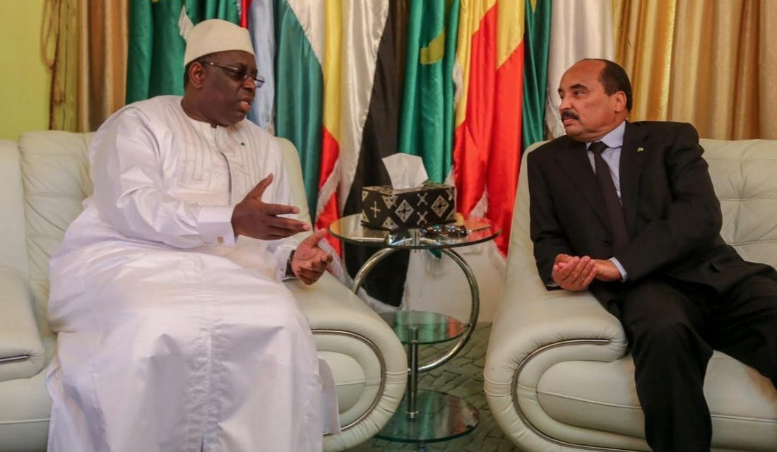 MACKY SALL POURSUIT SA VISITE en Mauritanie