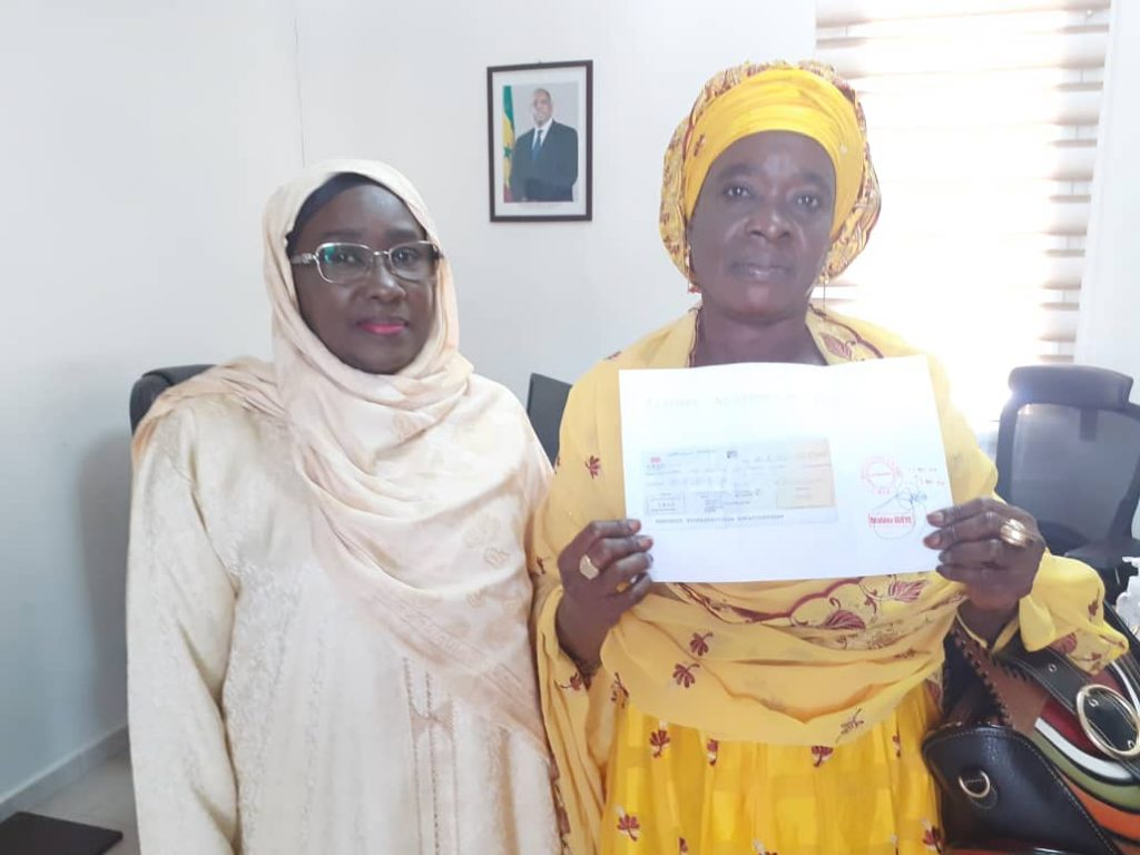 "COVID-19 : ""AND JEGGO"" APPORTE UNE CONTRIBUTION D'UN MILLION DE FRANCS CFA 1"