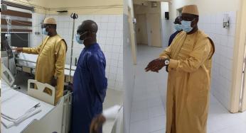 COVID-19 : Le président Macky Sall effectue une visite surprise à l'hôpital Général de Grand-Yoff