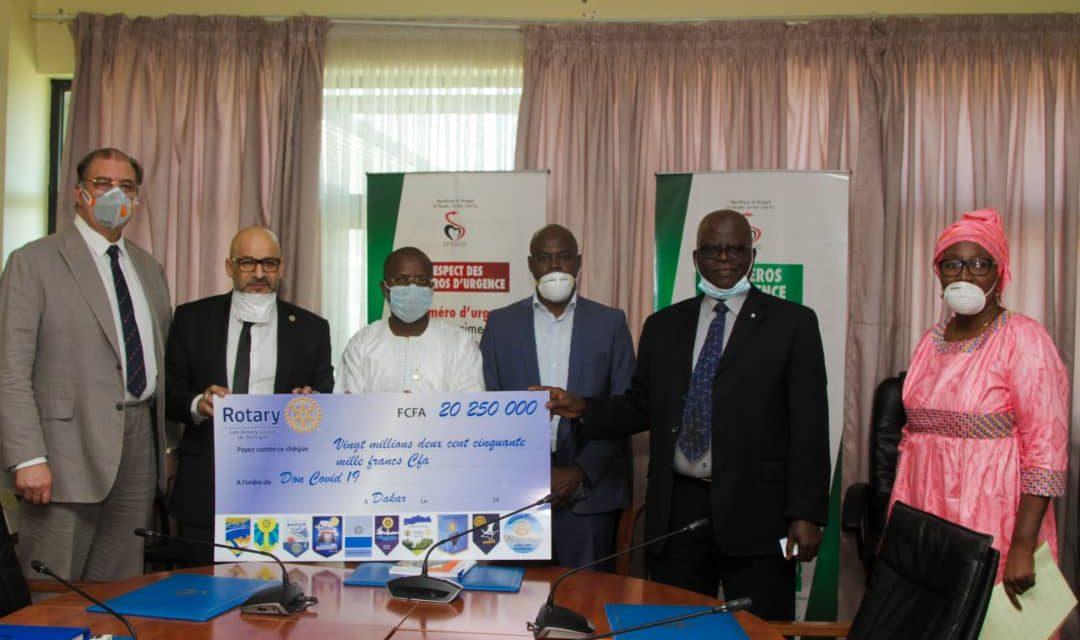 Covid-19: le Rotary Club du Sénégal fait don de plus de 20 millions F Cfa