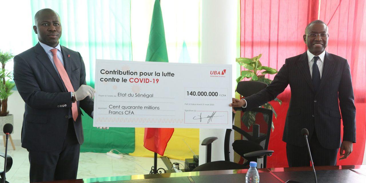 Covid-19: UBA Sénégal contribue avec 150 millions FCFA