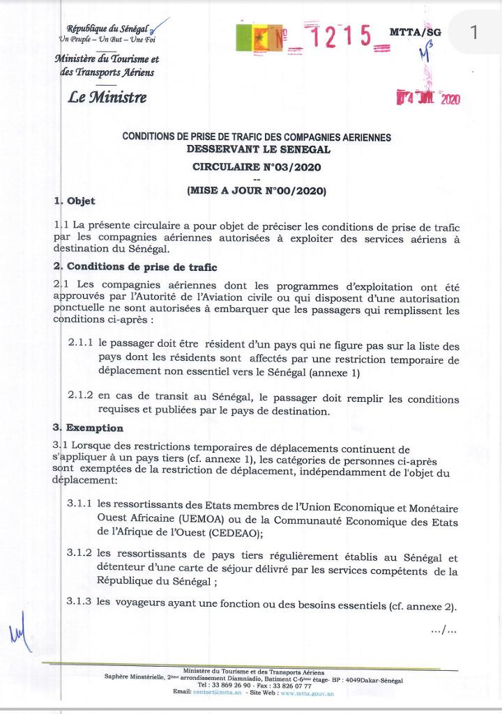 Fermeture de l'espace Schengen : Le Sénégal maintient le principe de la réciprocité face à l'Union européenne 1