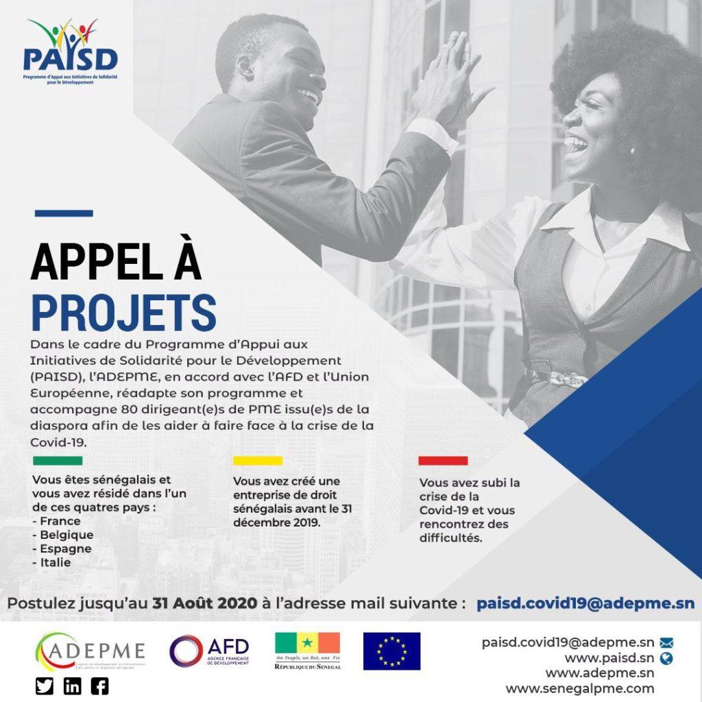 Covid-19/ l'ADEPME accorde un fond de soutien aux Entrepreneurs sénégalais de la Diaspora 1