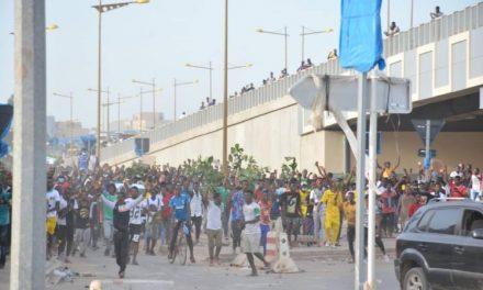 Manifestation devant l'ambassade de la Guinée au Sénégal