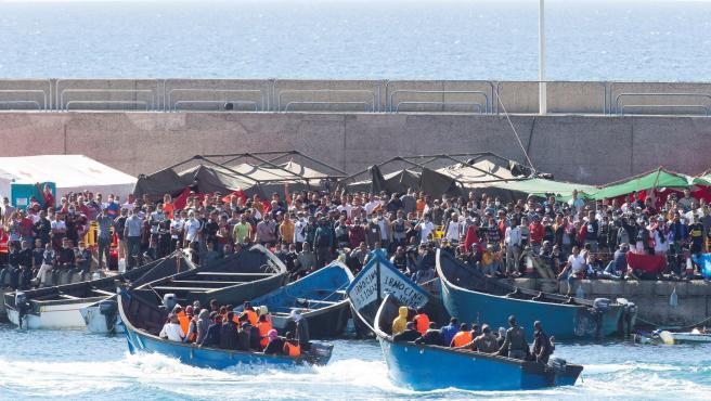 Les Canaries, débordées par l'afflux de migrants venant d'Afrique 2