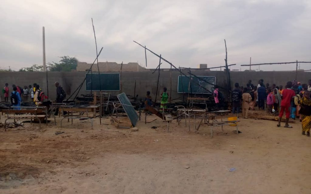 Incendie dans une école à Kaolack