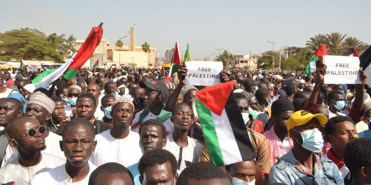 Manifestation au Sénégal en soutien aux Palestiniens