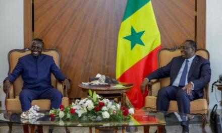 Sadio Mané reçu au Palais de la République